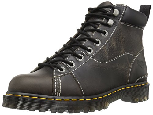 Dr. Martens unisex adult Alderton Construction Boot, Black Greenland, 10 Women 9 Men US
