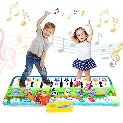 tapis de jeux enfant, Jouet Enfant 1 2 3 4 5 6 ans Garçons Filles-Tapis Tapis Musical Piano Enfant, Tapis Clavier Musical Tactile, Tapis d