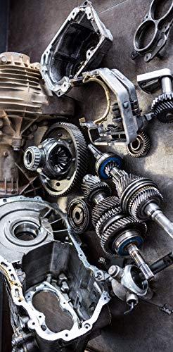 Türposter Motor Türaufkleber Selbstklebend Getriebe KFZ Werkstatt Auto Boot 1163tp