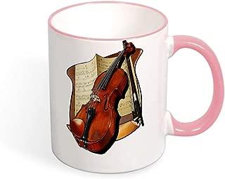 Violin And Sheet Music Coffee Mug Ceramic Cup Tea Mugs for Christmas Thanksgiving Festival Friends Gift