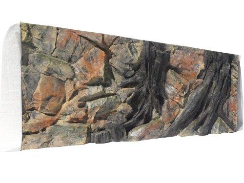 ABG100 Rückwand zum Aquarium und Terrarium 3d Wurzel 120x60cm bei Robizoo