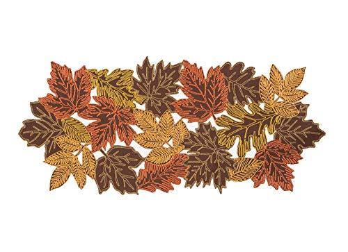 Xia Home Fashions Autumn Leaves Table Runner, 16''x36'', Brown