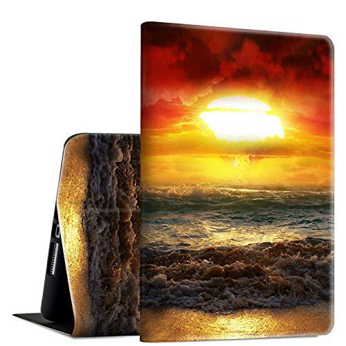 Rossy Smart Cover per Galaxy Tab E 9.6, SM-T560/T561/T565, con supporto regolabile e funzione Auto Wake/Sleep per Samsung Galaxy Tab E 9,6 pollici, spiaggia Sunrise