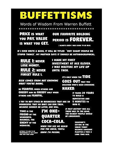 Lavojo Warren Buffett Buffettisms Poster 13' x 19'