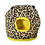 YOYOHO Loro Felpa Nido Invierno cálido Hamaca Mascota Colgante Cama Columpio Cueva pájaro Jaula decoración - Leopardo # L