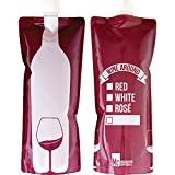 Magnuson Creations, Inc. Wine Around - Foldable to Go Wine Bottle - Convenient Bottle - Shatterproof, Flexible and Lightweight - Great Gift - Wine Container Carries One Full Bottle of Wine (750 ml)