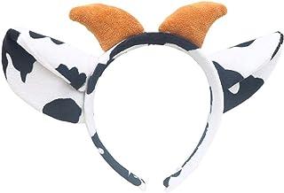 Beautiful crown Novità Funny Cow Horn Horn Peluche Fascia per donna Girls Regali, Bella dei cartoni animati Orecchie per a...