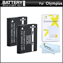 2 Pack Battery Kit for Olympus Stylus TG-Tracker, XZ-2 iHS, XZ-2iHS, SH-50 iHS, SH-50MR, Stylus SH-1, SH-2, TG-4, TG-5 Digital Camera Includes 2 Extended Replacement LI-90B, LI-92B Batteries ++