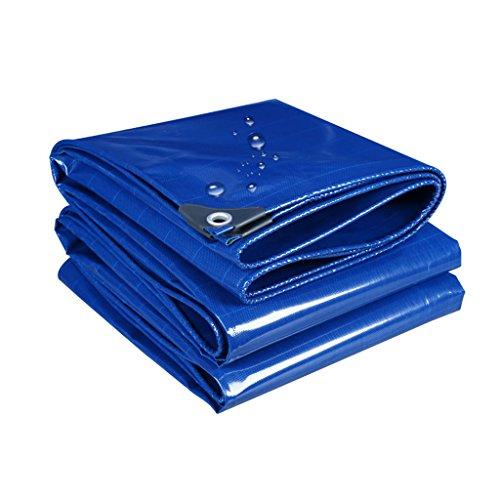 SSHA Lona Tarro de servicio pesado azul, poli impermeable cubierta grande para remolque al aire libre, leña, taza de toldo de lona, barco, rv o cubierta de piscina, grosor 0.42mm, 500g / m2 Lona Imp