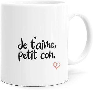 Mug Humour Amour Petit Con Tasse Message drôle. Idée Cadeau Original Amis Couple Amoureux Collègue Frère Sœur Mari Femme F...