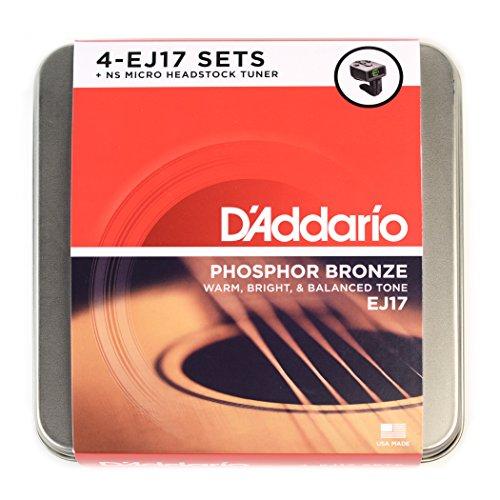 D'Addario DA-AZ05 EJ17 Geschenkbox mit NS Micro Tuner PW-CT-12