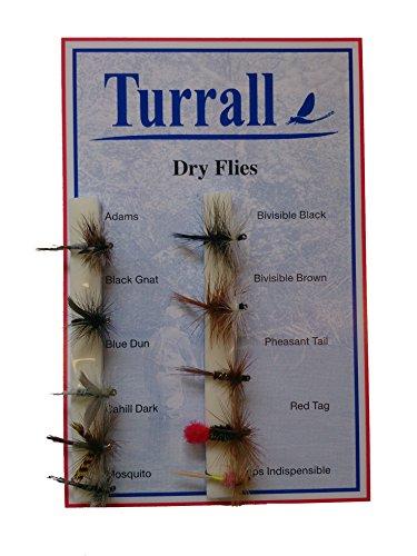 Premium Flies Dry - Mosca Seca de Pesca con Mosca, Color Transparente