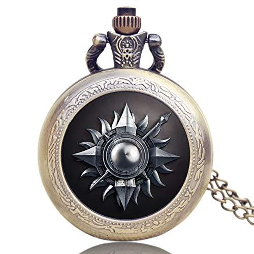 Reloj de Bolsillo conmemorativo, diseño de Juego de Tronos Americanos con cúpula...