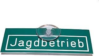 Jehn Autoschild jachtbedrijf, groen/wit, 15 cm