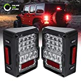 LED Jeep Tail Lights [Matrix Design] [DOT Approved] [Plug n Play] - Jeep Wrangler JK JKU Unlimited Brake Tail Light...