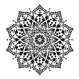 4 Piezas Plantilla De Plantilla Reutilizable Para Pintar Diseños De Mandala DIY Papel Tapiz Muebles Piso Pintura De Pared Plantilla De Dibujo Plantilla 30x30 Cm