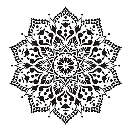 30×30CM 1PCS Mandala-Schablone Mandala Zeichnungsvorlage DIY Tapete Möbel Boden Spray Wandmalerei Vorlage
