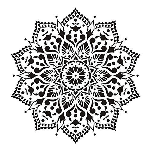 Mandala bloem uitgehold schilderij sjabloon, DIY behang sjabloon voor meubels vloer muurschildering - 30x30CM