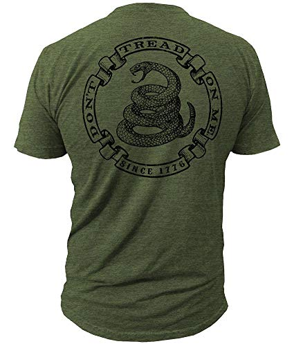 Dont Tread On Me Brand - Militia - T-Shirt DTOM Brand (XL) Army Green