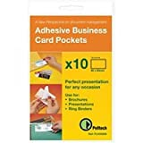 Pelltech 60mm x 95mm Business Card Pocket Open Top - Transparent (Pack of 10)