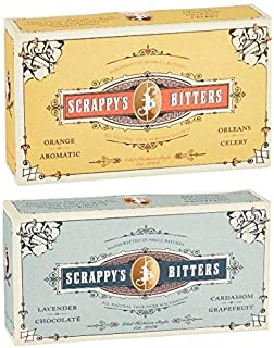 Scrappy's Bitters Classic and Exotic Set Bundle - Organic Ingredients, Finest Herbs and Zests, No Extracts, Artificial Flavors, Chemicals or Dyes. Made in the USA