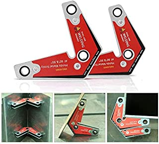 2pcs Magnetic Welding Holder 60°90,Dual-Use Strong Welding Corner Magnetic Holder Positioner, for Assembly, Welding, and Pipes Installation