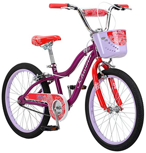 Schwinn Elm Girls Bike for Toddlers and Kids, 20-Inch Wheels, Purple