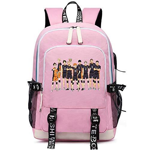 EU_LevinArt Anime Haikyuu Karasuno Backpack Laptop Backpack USB Charging Backbag Travel Daypacks School Bookbag Backpack (3)