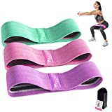 FRETREE Resistance Bands for Legs and Butt - Non Slip Elastic Exercise Bands Set for Stretching,...