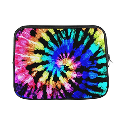 Tie Dye Pattern Rainbow Laptop Sleeve Case 15 15.6 Inch Briefcase Cover Protective Notebook Laptop Bag