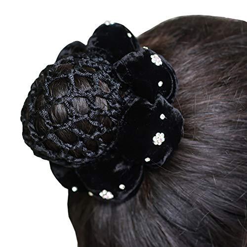 Haifly Noir Velours Bun Couverture Cheveux Chignon Couvre Accessoires de Cheveux pour Femmes
