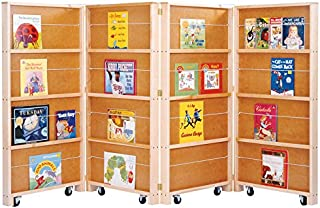 Jonti-Craft 0267JC Mobile Library Bookcase, 4 Sections