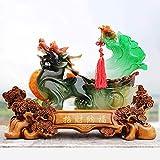 LULUDP-Decoración Pixiu / PiYao Chou Estatuas de Resina Feng Shui Decoración China para el hogar, la...