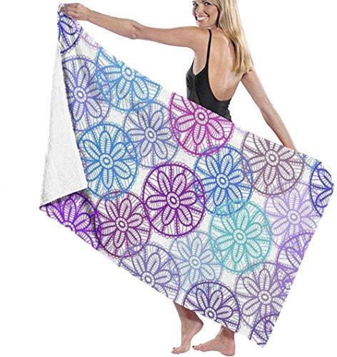 Toalla de Playa Ilustración de pétalos de Colores Microfibra Grande para niños Adultos Ideal para Nadar Viajes Yoga Deportes Acampar Cubierta de Hamaca Baño Ducha Toalla 80X130 Cm