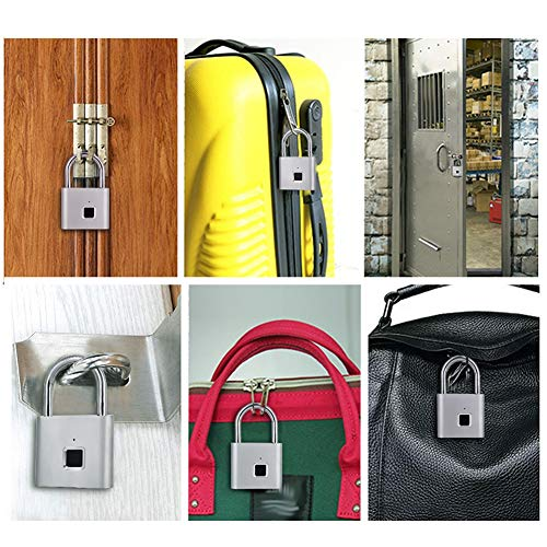 【𝐄𝐚𝐬𝐭𝐞𝐫 𝐏𝐫𝐨𝐦𝐨𝐭𝐢𝐨𝐧 𝐌𝐨𝐧𝐭𝐡】Fingerprint Padlock, Smart Keyless Waterproof USB Charge Lock for Door Bike Suitcase Cabinet