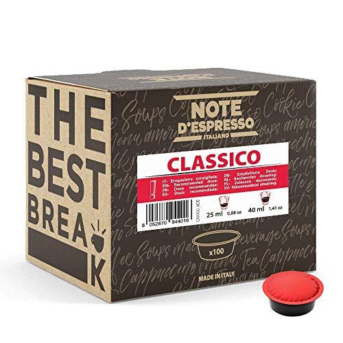 Note d\'Espresso - Classico - Kaffeekapseln - ausschließlich kompatibel mit LAVAZZA A MODO MIO Kaffeemaschinen - 100 caps