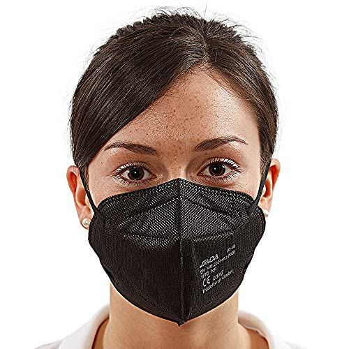 10 Stück FFP2 Schutzmaske Schwarz JD-99, 5-lagig, Masken einzeln verpackt, EN 149, CE 0370 zertifiziert