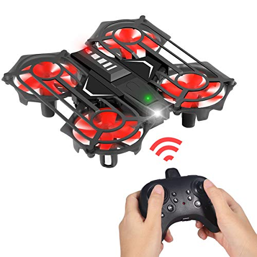 Mini Drone for Kids and Adults, Portable Hand Drone RC Quadcopter with Remote Control, Circle Flying, Auto Hovering, 3D Flip, Speed Adjustment & Altitude Hold, Great Gift Toys for Boys & Girls