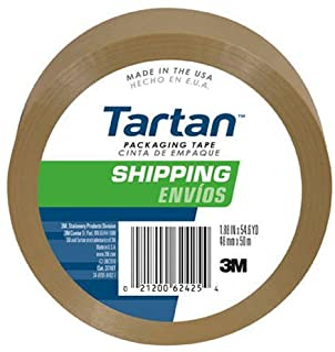 Pack of 6 Tape 3 Core 1-7//8 x 54.6 Yd Clear 3M Tartan 3710 General-Purpose Packaging Tape