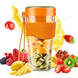 Smoothie Blender,COOKLEE Portable Bottles Stainless Steel Blade Juice Blender Mixer USB Rechargeable Handheld Blender for Smoothie, Shakes, Frozen Fruit, and Baby Food -60W, 400ML