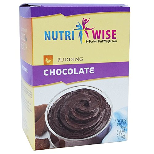 NutriWise - High Protein Diet Pudding   Chocolate   Low Calorie, Low Fat, Sugar Free (7/Box) from NutriWise