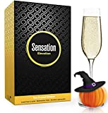 Season STORY Large Tall Champagne Flute Glasses (Set of 2, 8oz) Modern & Fancy Crystal Glassware with Long...