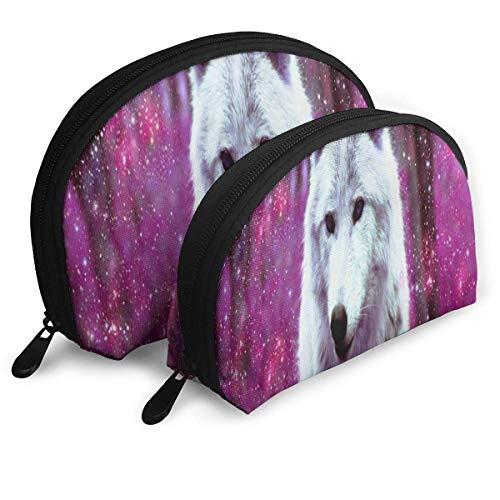 Galaxy Wolf Trousse De Maquillage Rose Portable Sac De Rangement pour Femmes Voyage Pack 2