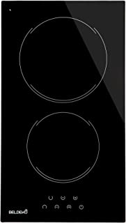 BELDEKO - Plaque Vitrocéramique 2 foyers 3000W - Minuteur, commande tactile, verrou pour enfants