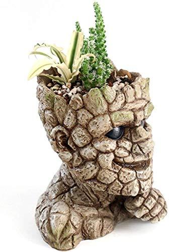 Wlnnes Contenedor de Plantas Retro jardín plantadoras macetas decoración Creativa imitación Piedra Hombre Flor Maceta Flor Maceta para Adornos al Aire Libre y Interior