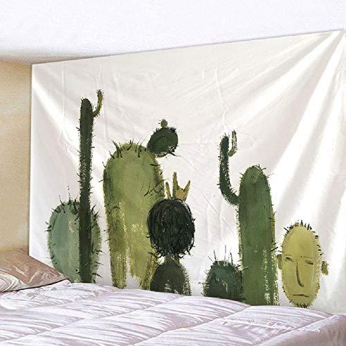 Tapiz impreso Cactus tapiz familiar sala de estar dormitorio decoración arena playa Picnic toalla 150x200cm