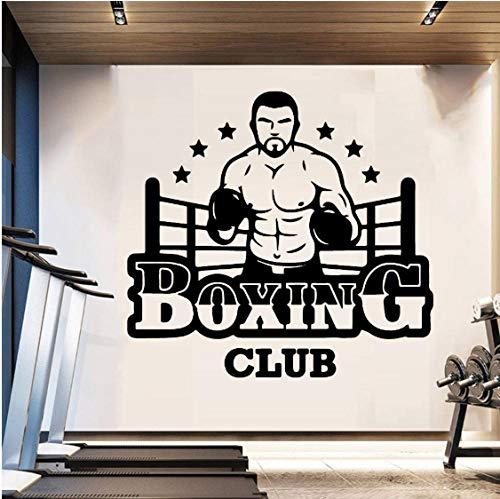 Pegatina Mural Boxing Club Wall Vinyl Club Decor Girls Bedroom Sticker Para Gym Company Decoración Mural Poster Decal 43X40 cm 🔥