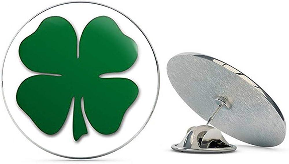 NYC Jewelers Green Shamrock Shaped (Lucky Irish Clover Boston) Metal 0.75