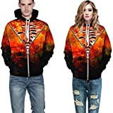 Unisex Men Women Christmas Print Sweater, Long Sleeve Hooded Pullover with Drawstring and Pocket Winter Casual Tops by Vanankni