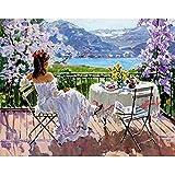 5D DIY diamante pintura pintura al óleo jardín niña primavera diamante punto de cruz conjunto diamante mosaico arte imagen A1 30x40cm